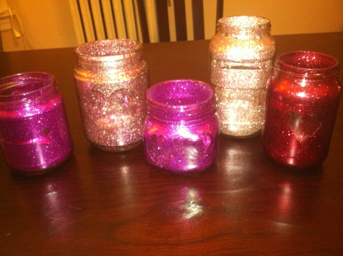 Some of our completed jars!
